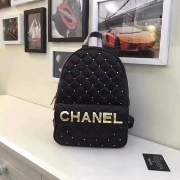 Chanel Women's New Fashion Leather Backpack Bag