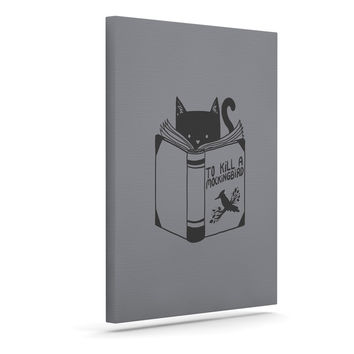 "Tobe Fonseca ""To Kill A Mockingbird"" Gray Cat Canvas Art"
