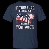 If The Flag Offends You I'll Help You Pack T-Shirt