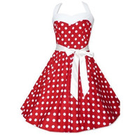 Fashion Women Summer Polka Dot Sleeveless Tank Casual Dresses = 1695421956