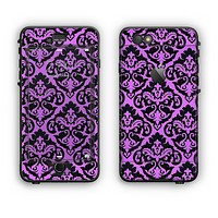 The Black & Purple Delicate Pattern Apple iPhone 6 Plus LifeProof Nuud Case Skin Set