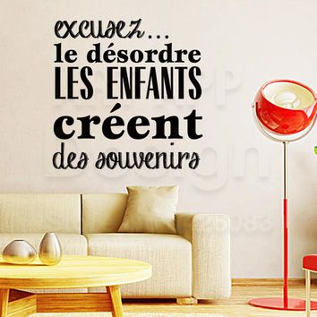 Art design cheap vinyl home decoration french good memory children wall sticker removable house decor souvenirs kids decals