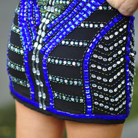 Be Jeweled Sparkle Skirt: Black | Hope's