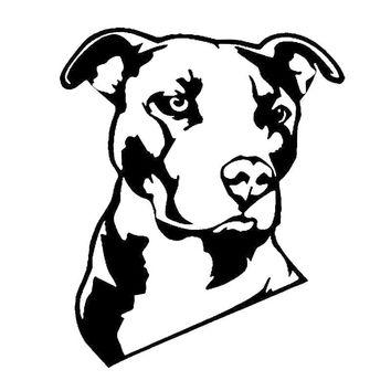 Pitbull Face Vinyl Decal Sticker