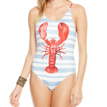 Cape Code Lobster One Piece Swimsuit