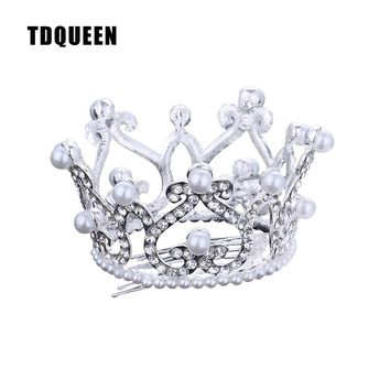 TDQUEEN Hair Comb Accessories Baby Girls Christmas Gift Present Jewelry Crystal Rhinestone Pearl Hair Pins New Tiaras and Crowns
