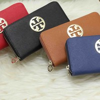 Fashion Cute Mental Sculpture Multicolor Letter Print Purse Fold Wallet Clutch Bag