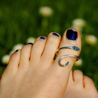 Silver Snake Toe Ring from Tangerine Dreams
