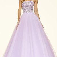 Strapless Mori Lee Ball Gown Style Prom Dress