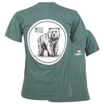 Southern Couture Priority Bear Stamp Country Pocket Unisex T-Shirt