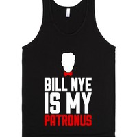 Bill Nye Is My Patronus-Unisex Black Tank