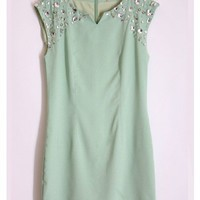 Cold Shoulder Mint Dress