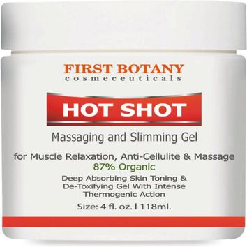Hot Shot Slimming Gel and Massaging Gel 4 fl. oz Great for Muscle Relaxation and Massage...
