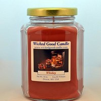 Glass Jar Candle - Whiskey