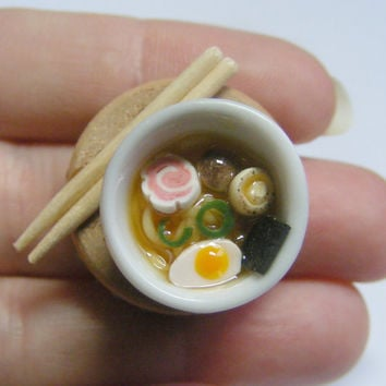 Ramen Bowl Miniature Food Ring - Miniature Food Jewelry