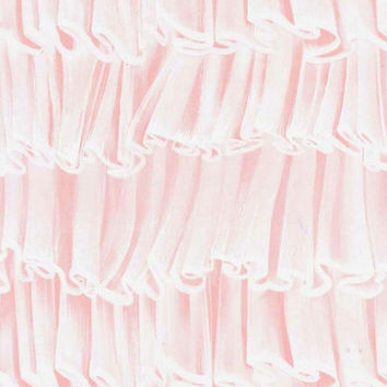 Frou Frou Fabric - Michael Miller, by the Yard Ruffles Pink Confection PRINTED on cotton