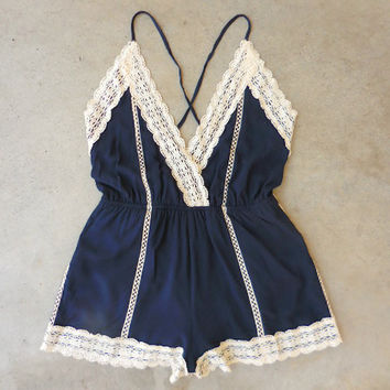 Crochet Gypsy Lace Romper [6989] - $29.40 : Feminine, Bohemian, & Vintage Inspired Clothing at Affordable Prices, deloom