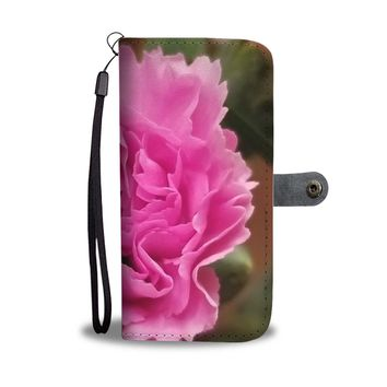 Pink Carnation RFID Wallet Case
