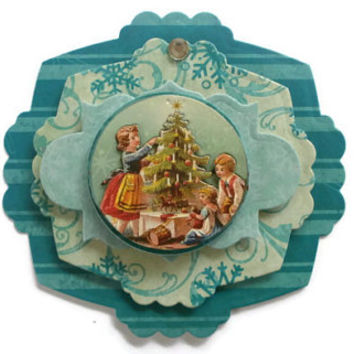 Christmas, Vintage, Scrapbook embellishment, Paper piecing, gift tags, Scrapbooking Layouts, Cards, Mini Albums Paper Crafts