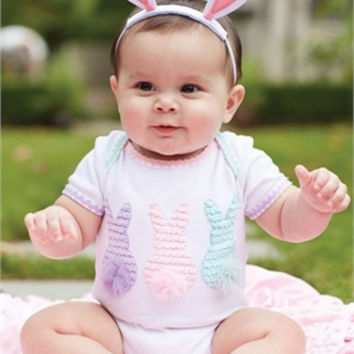 Mud Pie-Easter Crawler & Bunny Ears HB (Size 6-9 Mth)