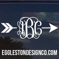 Custom Arrow Vine Monogram Decal for Yeti Cups, Laptops, Cars, etc.