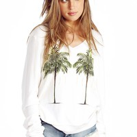 Twin Palms V-Neck Baggy Beach Jumper