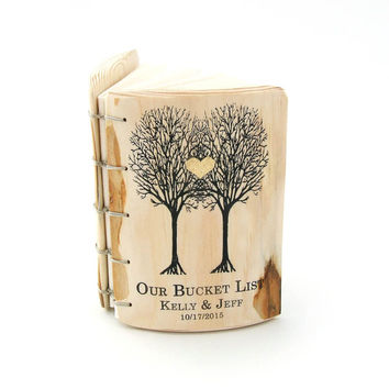Our Bucket List - Journal - anniversary gift - unique gift - wedding gift for the couple - wedding anniversary gifts