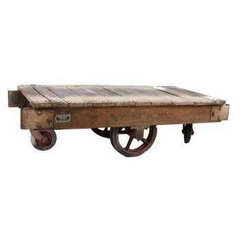 Pre-owned Vintage American Industrial Factory Cart
