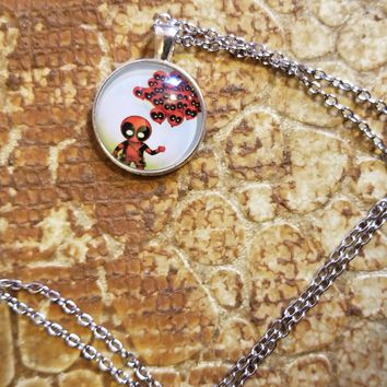 Marvel Deadpool with Balloons Pendant Necklace