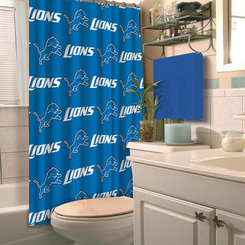 Detroit Lions NFL Shower Curtain