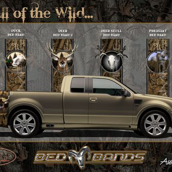 Camo Bed Bands Decals Truck Bed Bushwolf Professional Camo Pattern Hunting wildlife designs