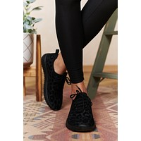 Just Chasing You Leopard Sneakers (Black)