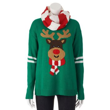 Eyelash Reindeer Ugly Christmas Sweater & from Kohl's