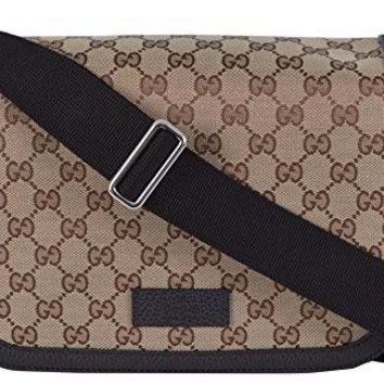 Gucci Unisex GG Guccissima Canvas Medium Messenger Bag (Beige/Brown)
