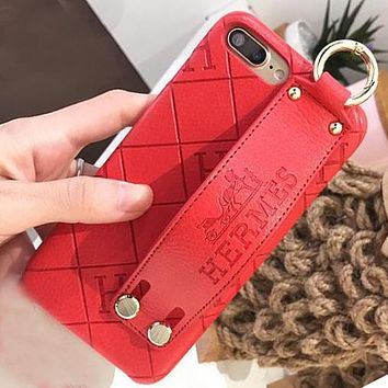 Hermes Popular iPhone Phone Cover Case For iphone 6 6s 6plus 6s-plus 7 7plus iPhone8 iPhone X (4-Color)