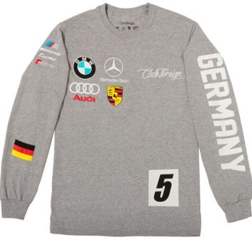 ONETOW Club Foreign Long Sleeve T-Shirt German Series In Grey