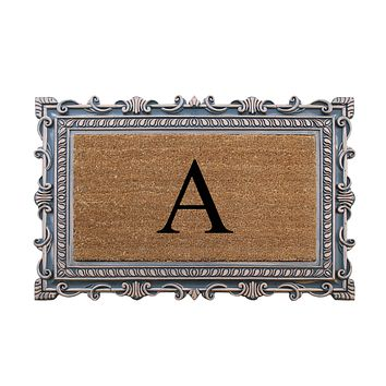 """A1HC First Impression Rubber and Coir 24"""" X 36"""", Monogrammed Doormat"""