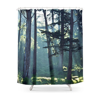 Society6 Trees In The Fog Shower Curtain
