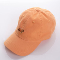 Washed Chino Whale Logo Baseball Hat