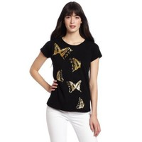 WHAT GOES AROUND COMES AROUND Women`s Butterfly Tee $65.00