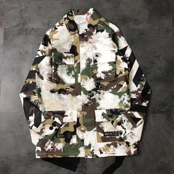 Off White Green and White Camo Jacket 004