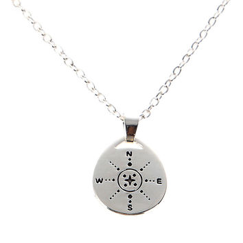 Gift Those who wander are not necessarily Lost Compass Design Necklace Chain Necklaces Fashion Jewelry  SN9