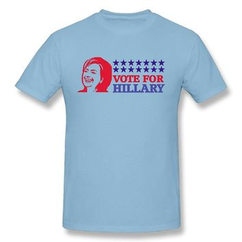 Vote For Hillary 2016 President Election Mens Fashion Short Sleeve T-shirt