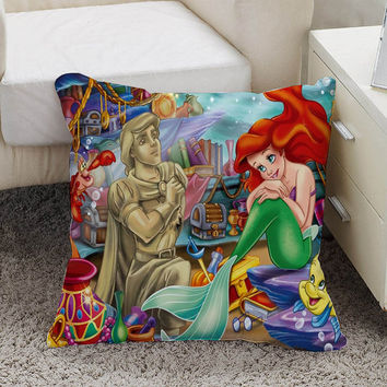 Ariel The Little Mermaid Pillow case size 16 x 16, 18 x 18, 16 x 24, 20 x 30, 20 x 26 One side and Two side