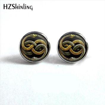 Harry Potter Slytherin Neverending Snake Earrings