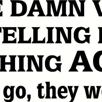 Voices Making Me go Fishing Vinyl Decal Sticker CAR Truck Laptop Boat fisherman Fun