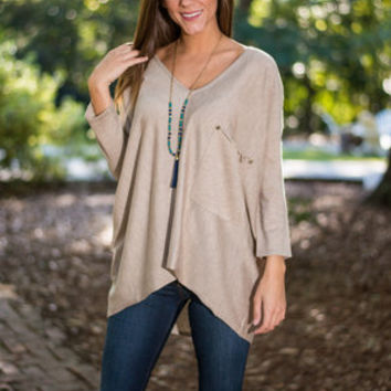 Good Time Tunic, Light Taupe