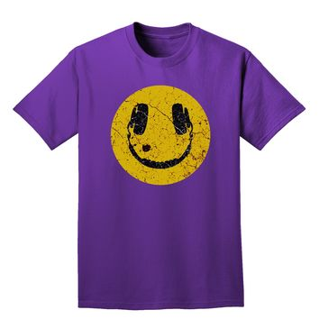 EDM Smiley Face Adult Dark T-Shirt by TooLoud