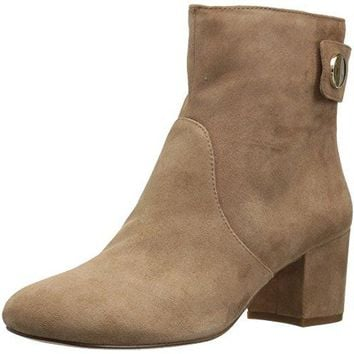 Women's Quarry Suede Ankle Boot Nine West Synthetic sole