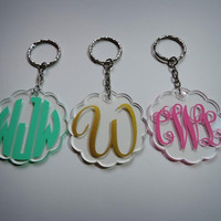 Monogram Key chain, Custom key chain, Bridesmaid gift, Gift Wrapping Available!
